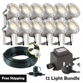 Techmar Locos Garden Post Lights Bundle - 12 Light Kit
