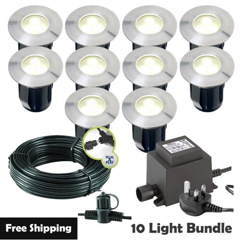 Techmar Larix 12V Plug & Play LED Garden Lights Bundle - 12 Light Kit