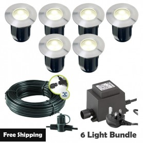 Techmar Larix 12V Plug & Play LED Garden Lights Bundle - 4 Light Kit