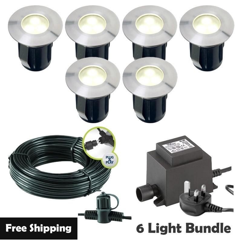 Techmar Larix Led Garden Post Lights Bundle 4 Light Kit