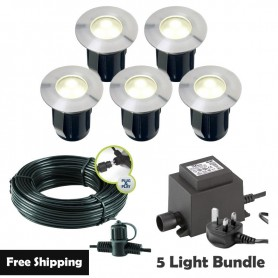 Techmar Astrum 12V Plug & Play Garden Deck Light Bundle - 10 Light Kit