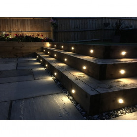 Techmar Astrum 12V Plug & Play Garden Deck Light Bundle - 6 Light Kit
