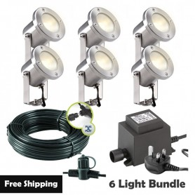 Techmar Oak 12V Garden Post Light Bundle - 4 Light Kit