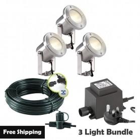 Techmar Alpha 12V Plug & Play Garden Deck Light Bundle - 5 Light Kit