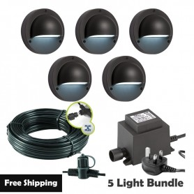 Techmar Orion Garden Post Lights Bundle - 4 Light Kit