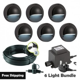 Techmar Albus 12V Plug & Play Garden Lights Bundle - 6 Light Kit