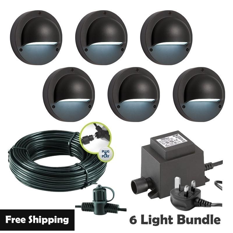 Techmar Albus 12V Plug & Play Garden Lights Bundle - 6 Light Kit