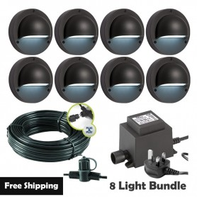 Techmar Deimos Garden Wall Light Bundle - 6 Light Kit
