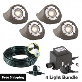 Techmar Callisto Garden Wall Light Bundle - 6 Light Kit