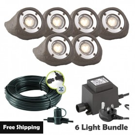 Techmar Lapis LED Waterproof Rock Light Bundle - 12 Light Kit