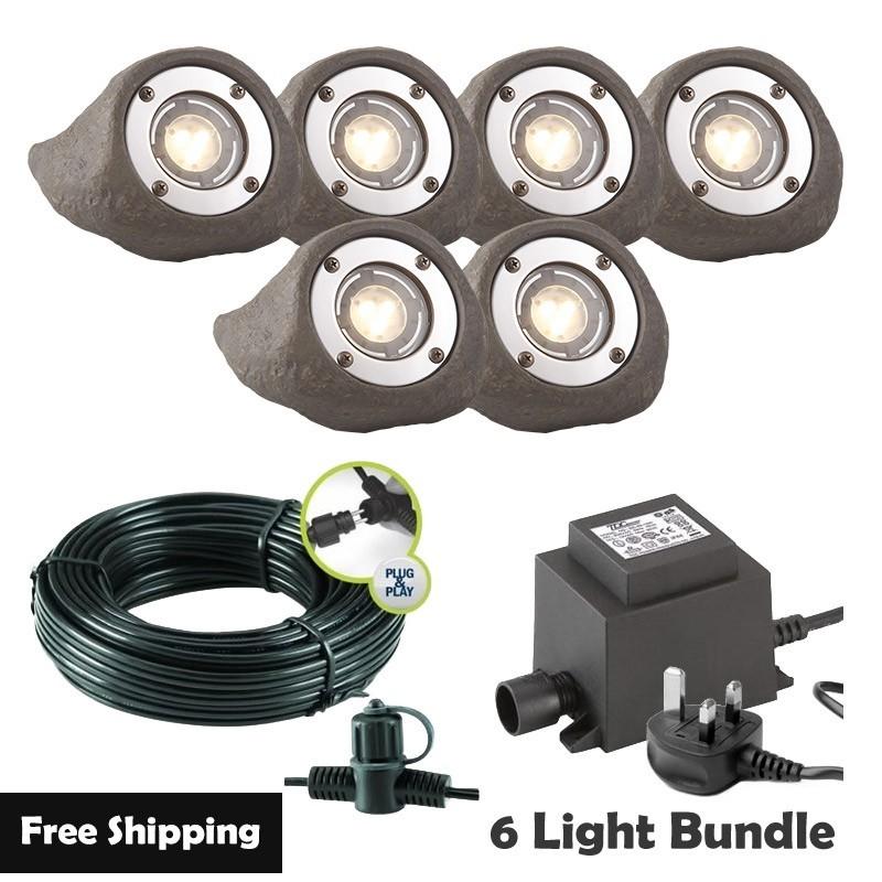 Techmar Lapis LED Waterproof Rock Light Bundle - 12 Light Kit