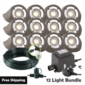 Techmar Lapis LED Waterproof Rock Light Bundle - 6 Light Kit