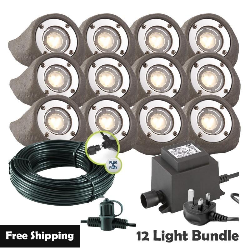 Techmar Lapis LED Waterproof Rock Light Bundle - 6 Light Kit