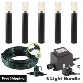 Techmar Rumex LED Garden Post Light Bundles - 3 Light Kit