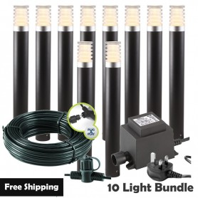 Techmar Arcus 12V Plug & Play Garden Spotlight Bundles - 4 Light Kit