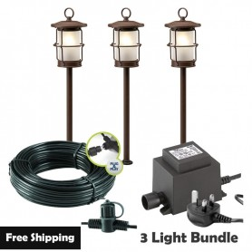 Techmar Arco 60 LED Garden Post Light Bundles - 6 Light Kits