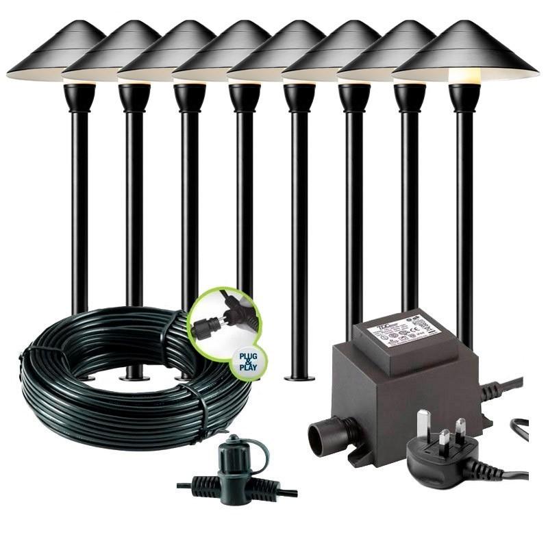 Columba 12V Plug & Play Outdoor LED Filament Wall Light