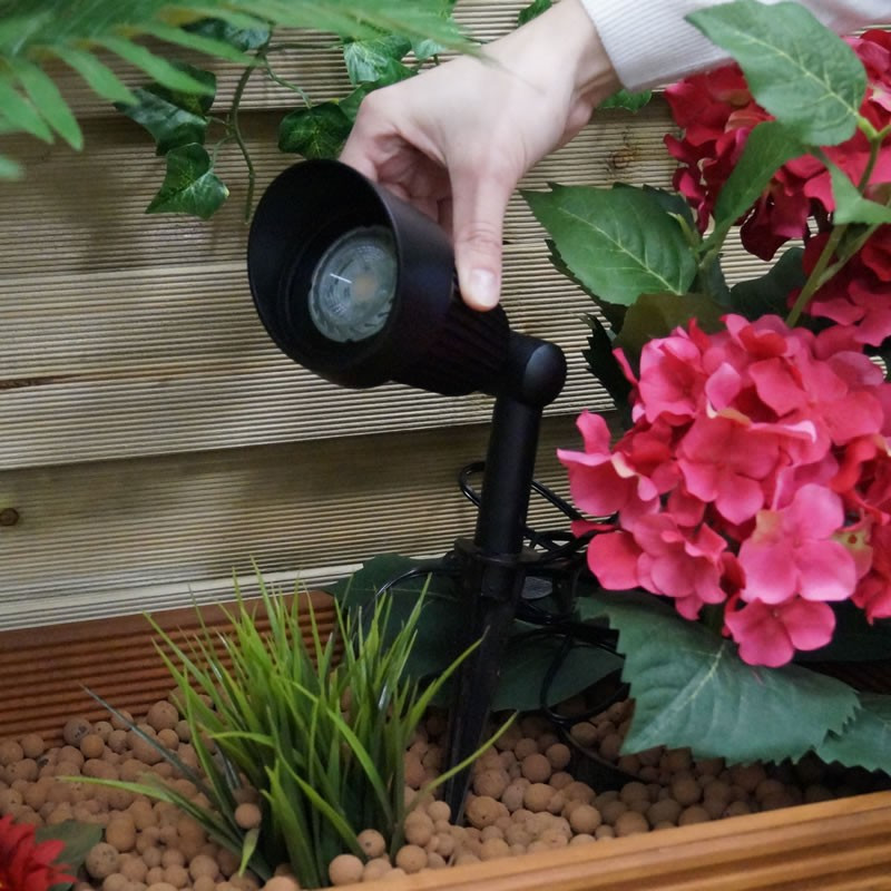 Techmar nepos garden halogen post lighting