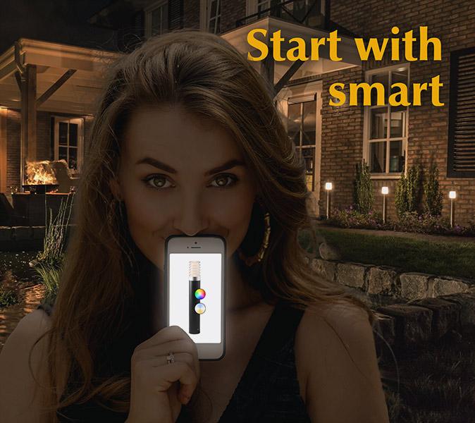 Smart phone garden lighting